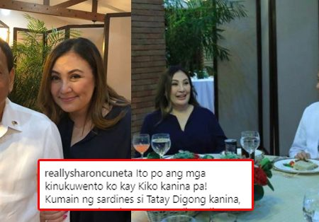 "LOOK: Megastar Sharon Cuneta shares ""fan girl"" moment after a dinner with President Duterte"