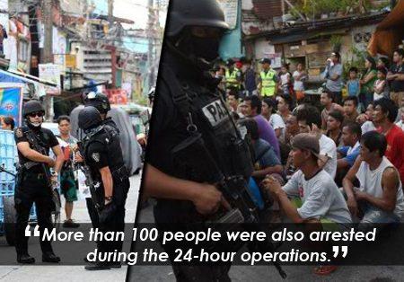 13 na adik patay at 100 iba pa arestado sa one-time big time drug buy-bust operation sa Bulacan
